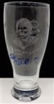 Billy Smith Autographed Etched Pint Glass
