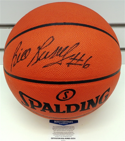 Bill Russell Autographed Official NBA Leather Basketball