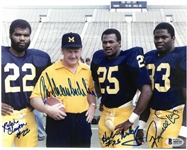 Bo Schembechler & 3 Others Autographed 8x10 Photo