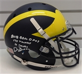 Devin Bush Jr. Autographed and Multi Inscribed Authentic Helmet