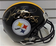 "Jerome Bettis Autographed Pro Line Helmet Inscribed ""Bus"""