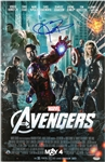 Jeremy Renner Signed The Avengers 11x17 Movie Poster