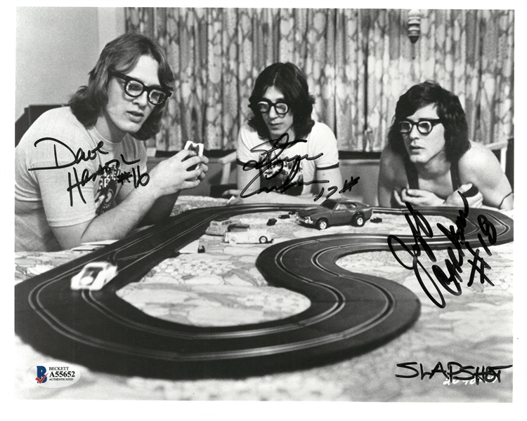 The Hanson Brothers Autographed 8x10 Slapshot Photo