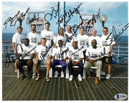 Sporting Greats Cruise 8x10 Signed by 12 Players