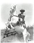 "Clayton Moore ""The Lone Ranger"" Autographed 8x10 Photo"