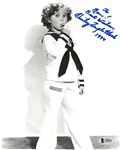 Shirley Temple Black Autographed 8x10 Photo