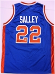 John Salley Autographed Pistons Jersey w/ Bad Boys 89/90