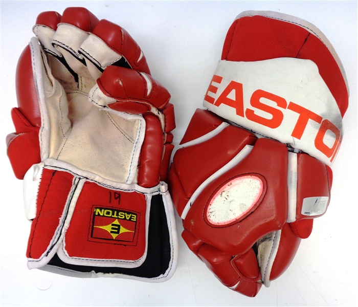 Steve Yzerman Game Used Hockey Gloves
