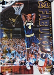 Chris Webber Autographed 1992-93 Michigan Poster