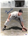 George Kell Autographed 8x10 Photo - Fielding