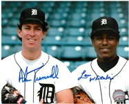 Alan Trammell & Lou Whitaker Autographed 8x10 Photo