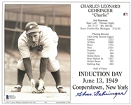 Charlie Gehringer Autographed HOF Induction 8x10 Photo