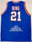 Dave Bing Autographed Pistons Career Stat Jersey