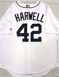 Ernie Harwell Autographed Tigers Jersey w/ 42 Tiger Years