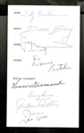 Fritz Crisler, Dave Bing and others Signed 4x7 Program Page