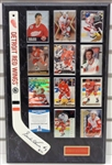 Gordie Howe Autographed Mini Stick w/ Red Wings Cards Plaque