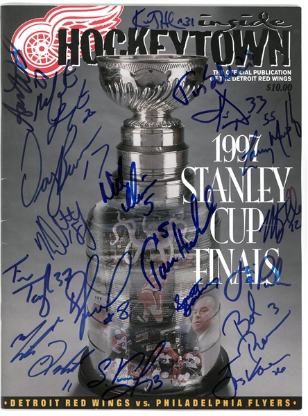 97 Wings Cup Finals Program Signed by 19