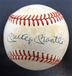 Mickey Mantle Autographed AL Baseball