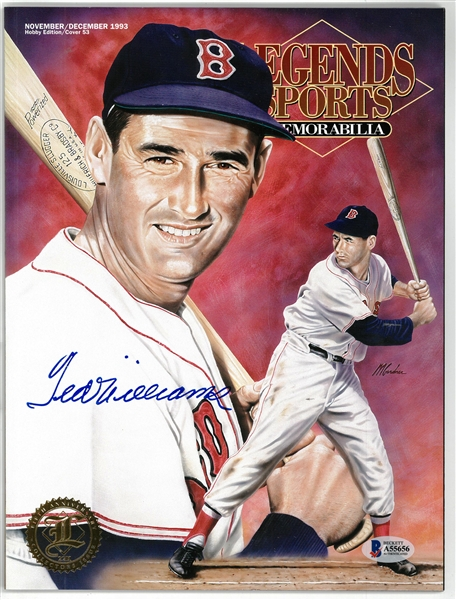 Ted Williams Autographed Legends Magazine