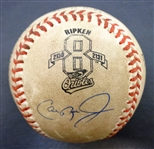 Cal Ripken, Jr. Game Used Ball from Game #2131 - Signed by Umpires, too!