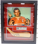 Maurice Richard Autographed Framed Stick Blade - Pick up Only