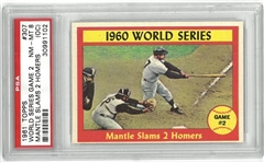 1961 Topps Mickey Mantle WS Homers PSA 8 (OC)