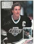 Wayne Gretzky Autographed 1st Issue of Beckett Magazine