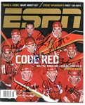 Red Wings ESPN Magazine Signed by 9 HOFers