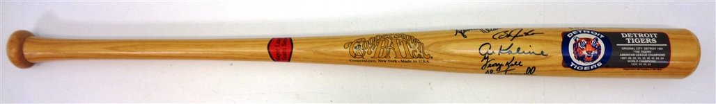 Detroit Tigers Bat Signed by 6 Legends