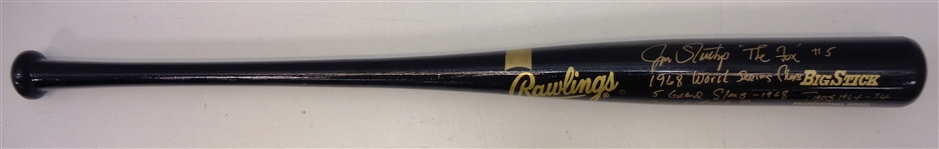 Jim Northrup Autographed Bat with Multiple Inscriptions