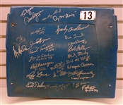 Tiger Stadium Autographed Seatback with 27 Signatures