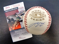 Justin Verlander Autographed 2006 World Series Baseball