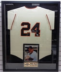 Willie Mays Autographed Framed Jersey - Pick up only