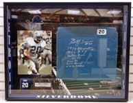 Billy Sims Autographed Framed Silverdome Seatback - Pick up Only