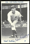 "Red Ruffing Autographed 3x4"" Photo Card"