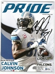 Calvin Johnson Autographed Record Yards Game Program