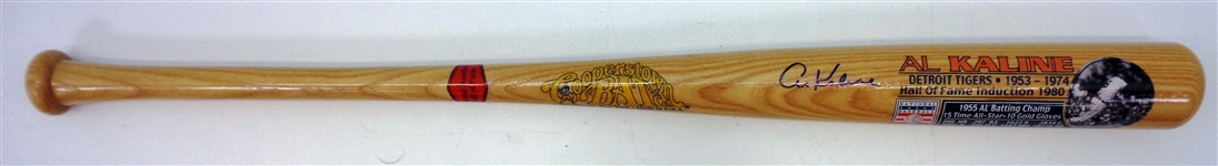 Al Kaline Autographed Cooperstown Bat Co. Stat Bat