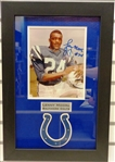 Lenny Moore Autographed Framed 8x10 Photo