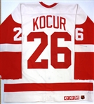 Joe Kocur Game Used Detroit Red Wings Home Jersey (Kocur Collection)