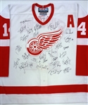 2002 Red Wings Team Signed Jersey (Kocur Collection)