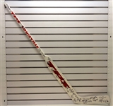 2002 Red Wings Team Signed Stick w/ 34 Autos (Kocur Collection)