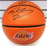 Shaquille ONeal Autographed Lakers Logo Basketball