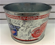 2008 Red Wings Ice Bucket Signed by the Team