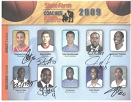 Steph Curry, James Harden and Blake Griffin Signed 2009 All American 8x10 Photo