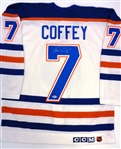Paul Coffey Autographed CCM Authentic Oilers Jersey