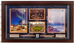 Tiger Stadium & Comerica Park Framed Display (Pick up Only)