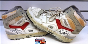 William Bedford Autographed Game Used Shoes