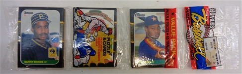 1987 Donruss Rack Pack w/ Bonds RC Showing