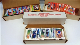 Lot of 4 1990 & 1991 Baseball Sets