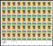 Jackie Robinson Stamp Sheet of 50